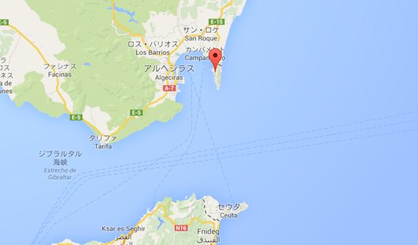 ジブラルタル拡大 - Google マップ