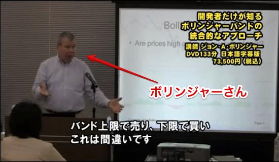 ボリンジャー氏による解説