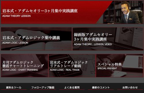 岩本式・FXアダムセオリー・マスタースクール購入者専用サイト