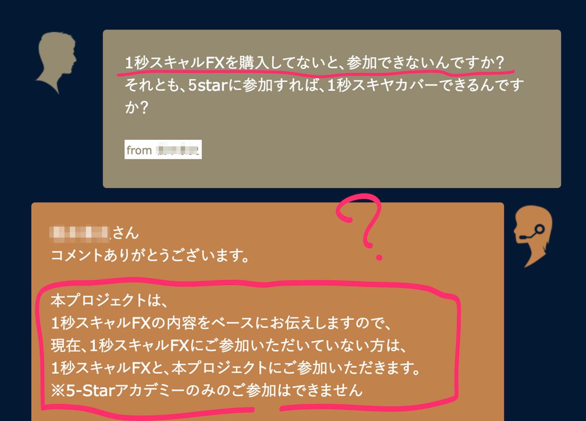 1秒スキャルFX 5-Star アカデミー第3話コメントと事務局からの回答