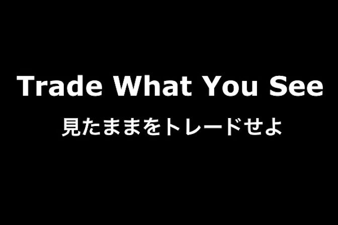 Trade What You See(見たままをトレードせよ)