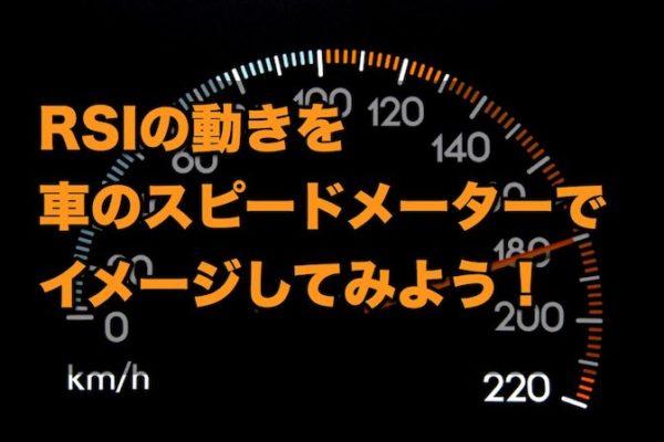 『RSI』の動きを自動車の速度計でイメージしてみよう!