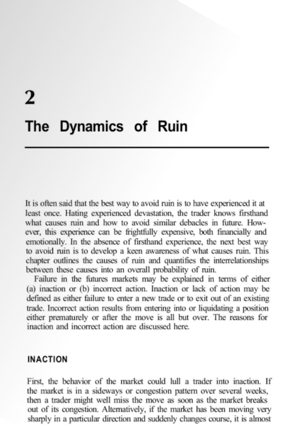 The Dynamics of Ruin