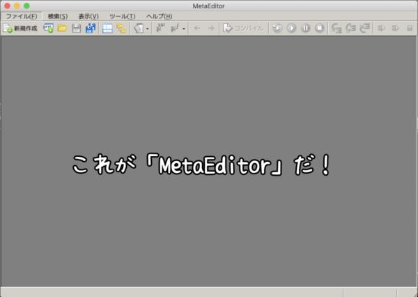 MetaEditor起動後の画面