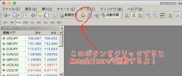 MetaEditorを起動する