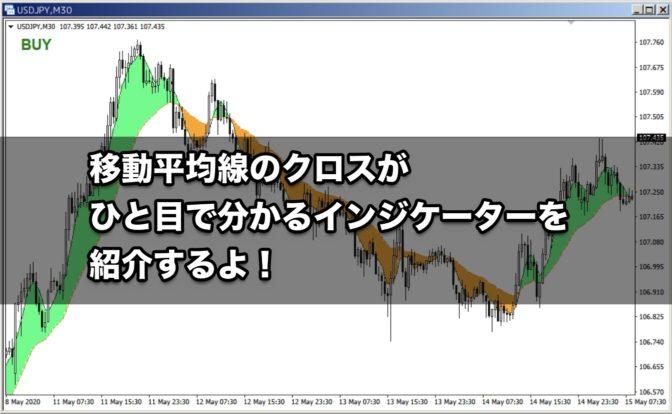【FX手法】移動平均線のクロスがひと目で分かるインジケーターを紹介するよ!