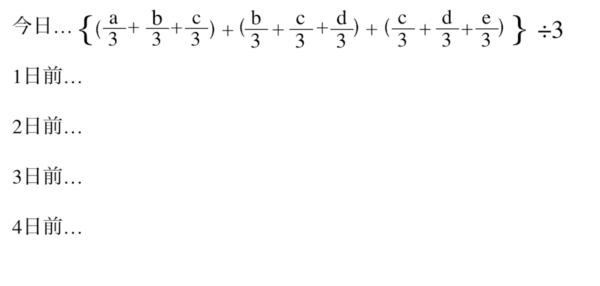 TMA(三角移動平均線)の計算式|その2